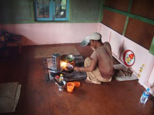 Our cook Aung Thein preparing our dinner