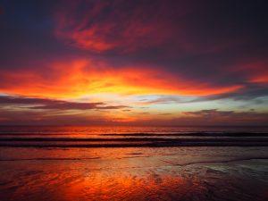 Perfect sunset at Klong Nin Beach