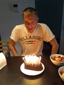Too many candles - he is getting to old ;-)