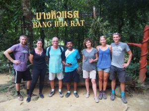 Max, Eva, Peter, our guide Chok, Ulli, Sandra, Jens