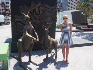 Don´t touch the kangaroos, they are too hot!