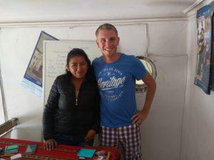 Jens y su profesora Marisol
