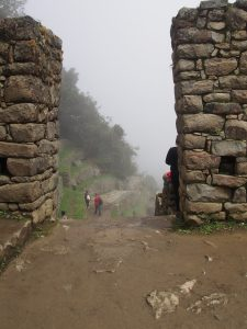 From here you are supposed to see Machu Picchu