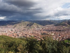 The view on Cusco from Sacsayhuamán