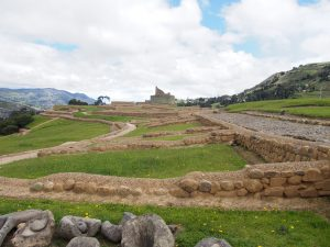Part of the inca trail on the right