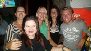 Sylvia, Marcia, me, Andrea and Jens
