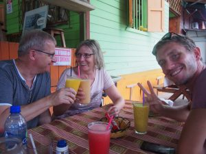 Some fruit shakes in Cahuita
