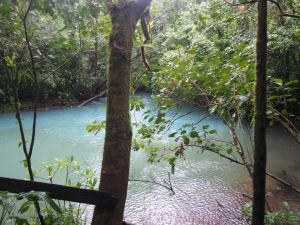 Here, Rio Celeste and another river mix again